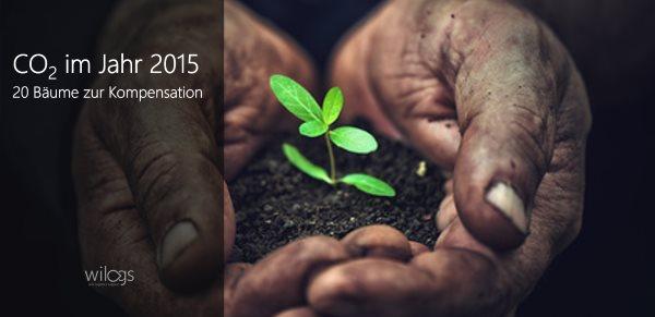 20 Bäume zur CO2-Kompensation im Jahr 2015